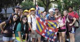 Groupe du diocèse de Dijon aux JMJ de Madrid en 2011