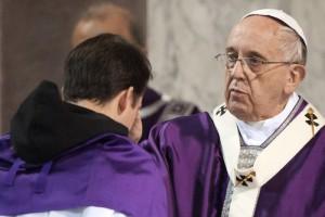 Le pape François le Mercredi des Cendres, 2015. (c) Alessia GIULIANI/CPP/CIRIC