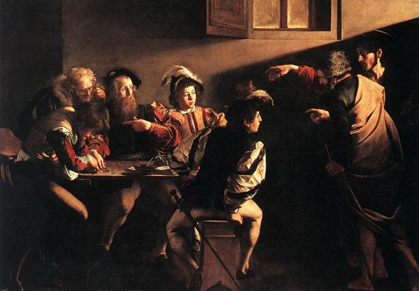 Souvent, le pape a évoqué la représentation de l'Appel de Matthieu peint par le Caravage, un tableau qu'il allait contempler dans l'église Saint-Louis-des-Français de Rome.