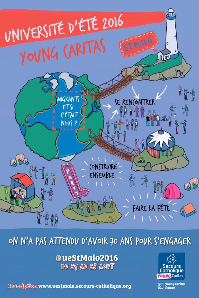 Affiche Young Caritas été 2016