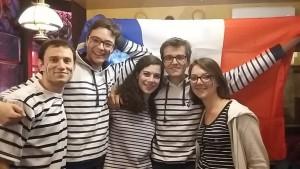 Aumonerie des étudiants de Reims  Cinq membres de l'aumônerie après France-Roumanie