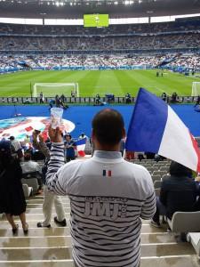 Michel au Stade de France pour France Islande :D