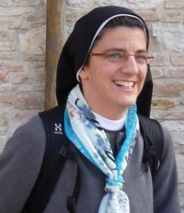Soeur Françoise Bernard en pèlerinage à Rome.