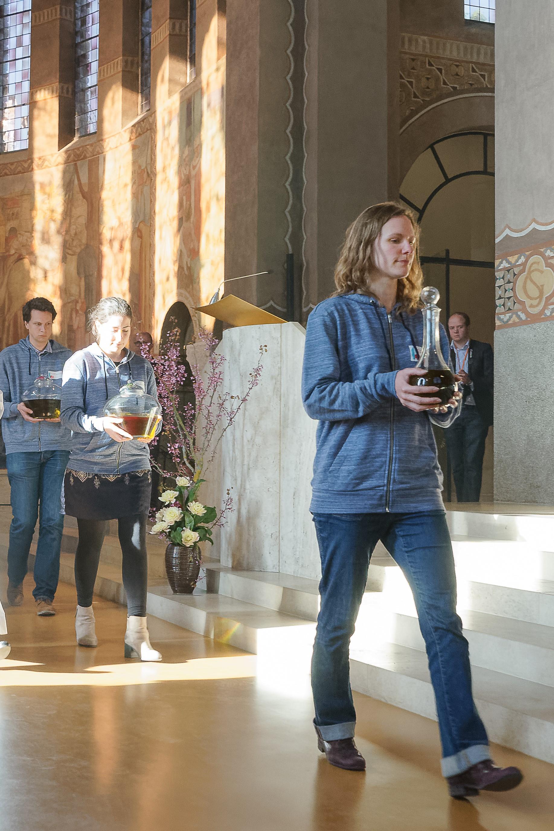 Pendant la Messe chrismale